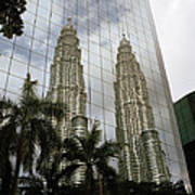 Petronas Reflecting Art Print
