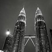 Petronas Towers At Night Art Print