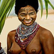Peul  Princess Of Mali Art Print