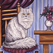 Pewter The Cat Art Print