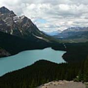 Peyote Lake In Banff Alberta Art Print