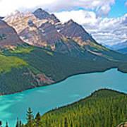 Peyto Lake Along Icefield Parkway In Alberta-canada Art Print