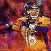 Peyton Manning Abstract 2 Art Print by David G Paul