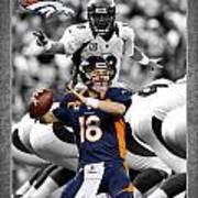 Peyton Manning Broncos Art Print