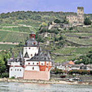 Pfalzgrafenstein With Burg Gutenfels  Art Print