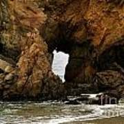 Pfeiffer Beach Rocks In Big Sur Art Print