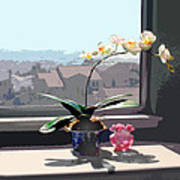 Phalaenopsis Orchid In Sunny Window Art Print