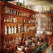 Pharmacist - Behind The Scenes  Art Print by Mike Savad