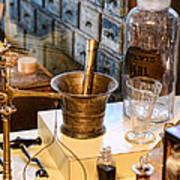 Pharmacist - Brass Mortar And Pestle Art Print
