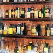 Pharmacist - Mortar Pestles And Medicine Bottles Art Print
