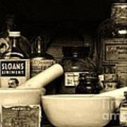 Pharmacy - Cod Liver Oil And More Art Print
