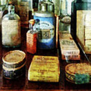 Pharmacy - Cough Remedies And Tooth Powder Art Print