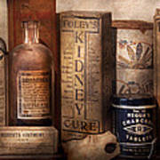 Pharmacy - Cures For The Bowels Print by Mike Savad