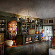 Pharmacy - Morning Preparations Art Print by Mike Savad