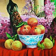 Pheasant And Fruit Art Print