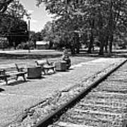 Phelps Ny Train Station In Black And White Art Print