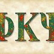 Phi Kappa Psi - Parchment Art Print
