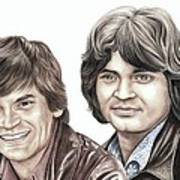 Phil And Don Everly Art Print