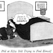 Phil At Fifty: Still Trying To Find Himself Art Print by J.B. Handelsman