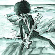 Phil Lynott In Howth Art Print
