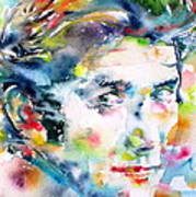 Phil Ochs - Watercolor Portrait Art Print