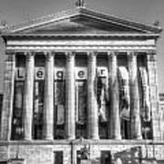 Philadelphia Art Museum Back 1 Bw Art Print