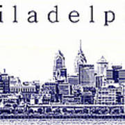 Philadelphia Blueprint  Art Print