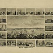 Philadelphia By J Serz Art Print