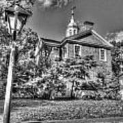 Philadelphia Carpenter's Hall East Side 4 Bw Art Print