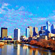 Philadelphia Cityscape Rendering Art Print
