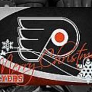 Philadelphia Flyers Christmas Art Print
