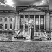 Philadelphia Franklin Museum 2 Bw Art Print