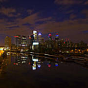 Philadelphia From South Street At Night Print by Bill Cannon