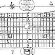 Philadelphia: Map, 1683 Art Print