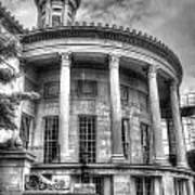 Philadelphia Merchants Exchange Bw Art Print
