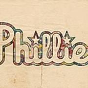 Philadelphia Phillies Poster Art Art Print