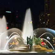 Philadelphia - Swann Fountain - Night Art Print by Bill Cannon