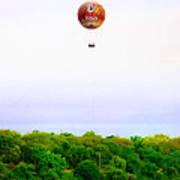 Philadelphia Zoo Balloon Over The Schuylkill River Art Print