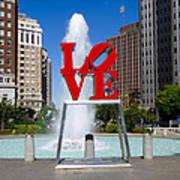 Philadelphia's Love Park Art Print