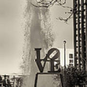 Philadelphia's Love Story In Sepia Art Print