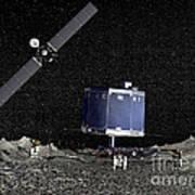 Philae Lander On Surface Of A Comet Art Print