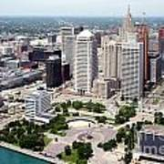 Philip A Hart Plaza Detroit Art Print