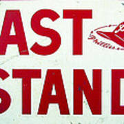 Phillies East Stand Sign - Connie Mack Stadium Art Print