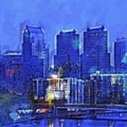 Philly Blue Art Print