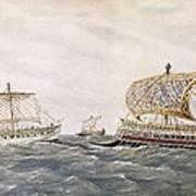 Phoenician And Assyrian Battle Ships Art Print by Everett