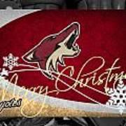 Phoenix Coyotes Christmas Art Print