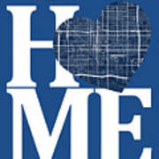 Phoenix Street Map Home Heart - Phoenix Arizona Road Map In A He Art Print