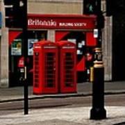 Phone Booths Art Print