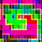 Phone Case Art Intricate Colorful Dynamic Abstract City Geometric Designs By Carole Spandau 131 Cbs  Art Print