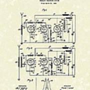 Phone System 1925 Art Print by Prior Art Design
